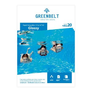 Papel Fotográfico Glossy A3 135g Greenbelt 20 Folhas