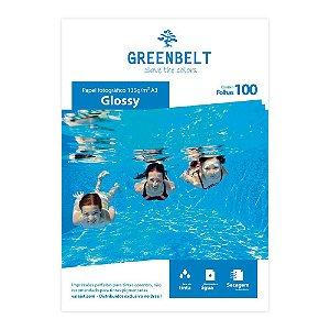 Papel Fotográfico Glossy A3 135g Greenbelt 100 Folhas