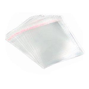 Embalagem Saco Plástico 22x30cm Aba Adesivada 3cm 100 Unidades