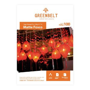 Papel Fotográfico A4 Matte Fosco 180g Greenbelt 100 Folhas