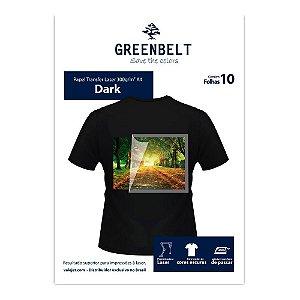Papel Transfer Laser para Tecido Escuro A4 300g 10 Folhas Greenbelt