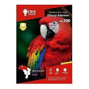 Papel Fotográfico Glossy Adesivo A4 115g Crie Sempre 100 folhas