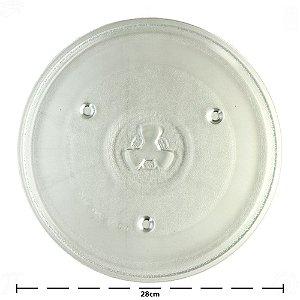 Prato de Micro-ondas Consul | Electrolux | Brastemp Encaixe Trevo 28cm