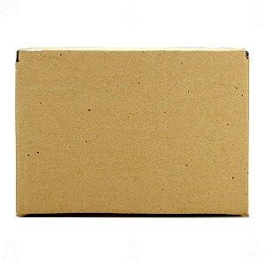 Caixa de Papelão Ondulado Pardo 22cm x 13,5cm x 15cm Nº1 100 Unidades