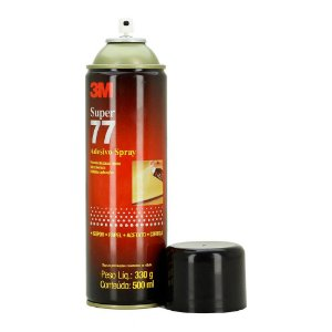 Spray Adesivo 3M 77 Multiuso Isopor   Papel   Acetato   Cortiça 330g