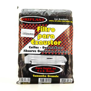 Manta Filtrante para Exaustor | Coifas | Depuradores Cinza para Fogão de 4 e 6 Bocas - 2 Unidades