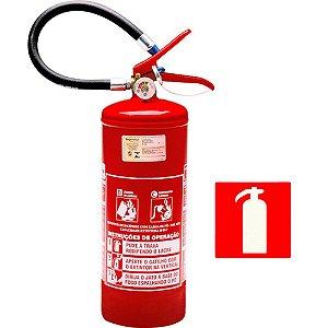 Extintor de Incendio Pó Químico Classe BC  4kg + 1 Placa Sinalizadora Grátis