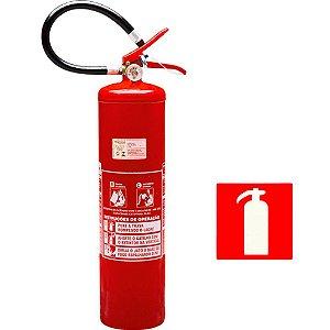 Extintor de Incendio Pó Químico Classe BC 6kg + 1 Placa Sinalizadora Grátis