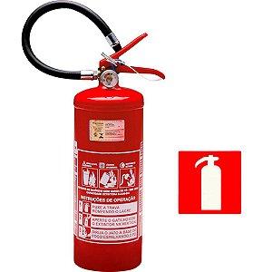 Extintor de Incendio Pó Químico ABC 4kg - Classe ABC + 1 Placa Sinalizadora Grátis