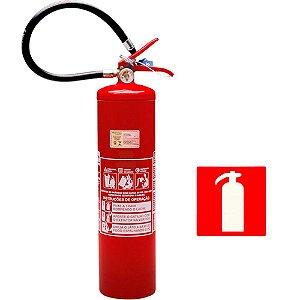 Extintor de Incendio Pó Químico ABC 6kg - Classe ABC + 1 Placa Sinalizadora Grátis