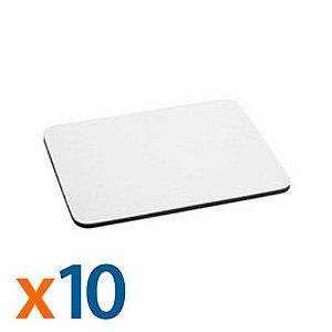 Mouse Pad para Sublimação Retangular 24 x 20 cm - 10 Unidades