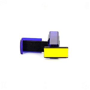 Carimbo de Bolso Pocket Stamp Plus 20 com Almofada Preta Colop 14x38mm Azul