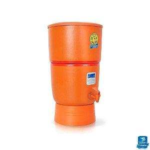 Filtro de Água de Barro Purificador Premium São João 2 Velas 6 Litros