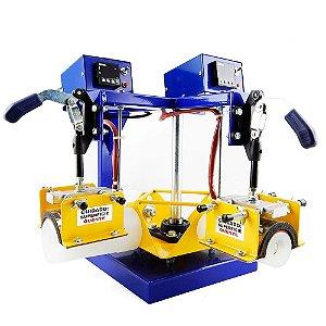 Máquina de Transfer Canecas Acrílicas Carrossel Duplo 4 Culotes Bivolt
