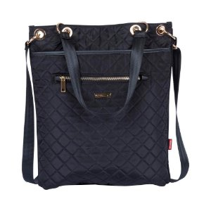 Bolsa Feminina Sacola Tote Quilt 2 Bag 2x1 Preta Matelassê Sestini