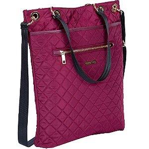 Bolsa Feminina Sacola Tote Quilt 2 Bag 2x1 Vinho Matelassê Sestini