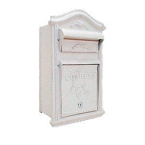 Caixa de Correio de Correspondência para Muro e Grade Frontal Classic Branca Prates e Barbosa