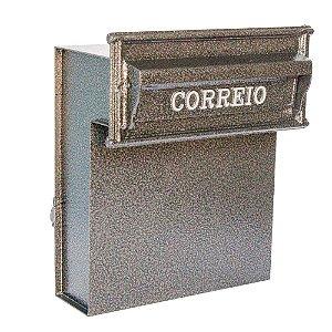 Caixa de Correio Residencial para Muro e Grade Safira Dourada Prates e Barbosa