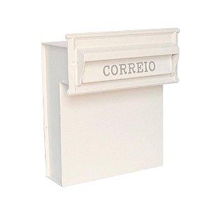 Caixa de Correio Residencial para Muro e Grade Safira Branca Prates e Barbosa