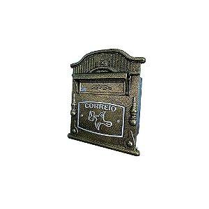 Caixa de Correio para Muro e Grade Colonial Vitoria Dourada Prates e Barbosa