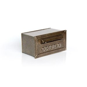 Caixa de Correio para Carta e Envelope Turquesa Dourada Prates e Barbosa