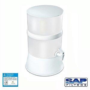 Filtro de Água Compacto com Vela Cerâmica Branco Sap Filtros