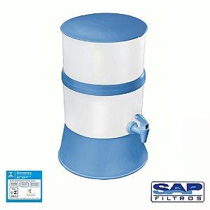 Filtro de Água Compacto com Vela Cerâmica Azul Sap Filtros