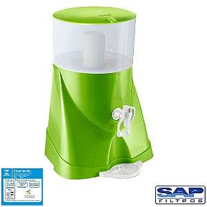 Filtro de Água Acqua Fresh com Cuba Cerâmica Verde 5,7 Litros Sap Filtros