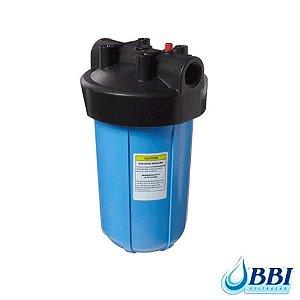 Carcaça do Filtro Big 10 Blue 1.1/2 Polegadas | Entrada e Saída 1 Polegada