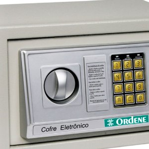 Cofre Digital com Senha de Segurança e Chave 20x20x31cm 3800 Ordene