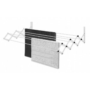 Varal Retrátil de Parede Sanfonado de Secar Roupas Ordene Branco 77cm