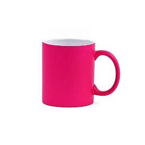 Caneca Fluorescente para Sublimação de Cerâmica Resinada Pink
