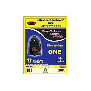Kit 3 Sacos para Aspirador de Pó One Electrolux Compatível