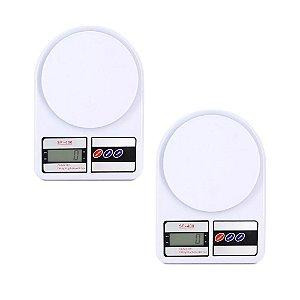 Kit 2 Balanças Digitais de Precisão Eletrônica 7kg 1g 7000g