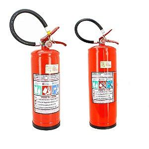 Kit Extintor de Incêndio Pó químico ABC 4kg + Água Pressurizada AP10