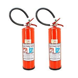 Kit 2 Extintores de Incêndio Pó Químico BC Inflamáveis Energizados 8kg