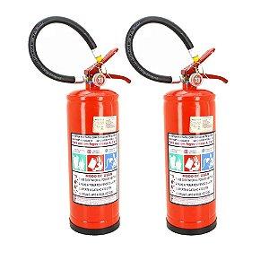 Kit 2 Extintores de Incêndio Pó Químico ABC 6kg