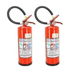 Kit 2 Extintores de Pó Químico ABC Inflamáveis, Energizados e Sólidos 4kg
