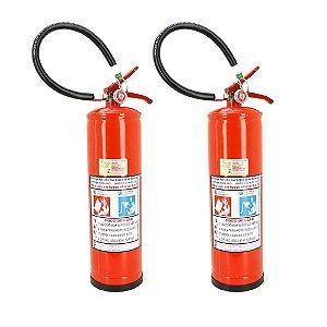 Kit 2 Extintores de Pó Químico BC Inflamáveis e Energizados 6kg