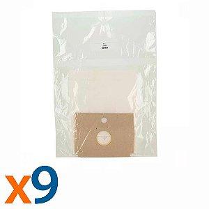 Kit 3 Pacotes Com 3 Unidades Saco para Aspirador de Pó Arno Dimbo Descartável Compatível