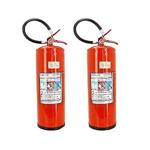 Kit 2 Extintores de Água para Incêndio Classe A 10 Litros