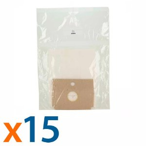 Kit 5 Pacotes com 3 Unidades de Saco para Aspirador de Pó Arno Dimbo Descartável Compatível