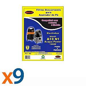 Kit 3 Pacotes Com 3 Sacos para Aspirador de Pó A10-Acqua Power 1200w Electrolux Compatível