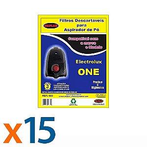 Kit 5 Pacotes com 3 Sacos para Aspirador de Pó One Electrolux Compatível