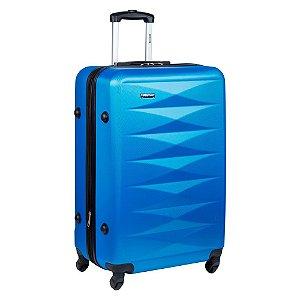 Kit 2 Malas P M Com Rodinhas Para Viagem Executiva Tsa 4 Fun 3T - Azul
