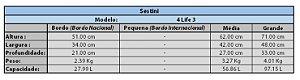 Kit 2 Malas B M Para Viagem Com Rodinhas Executivo 360° 4 Life 3 - Preto