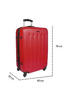 Mala de Viagem Grande Com Rodinhas 360° 4 Joy 3 - Vermelho