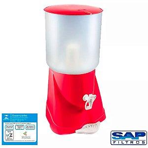 Filtro de Água de Plástico Max Fresh Vermelho Sap Filtros - 1 Vela
