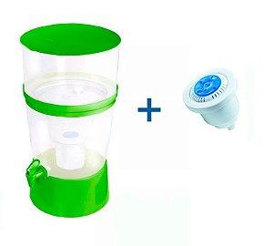 Kit Filtro de Água The Filter de Plástico Sap Filtros - Verde + Refil Sap Control