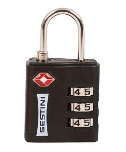 Cadeado TSA com Combinação Preto